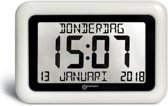 Geemarc VISIO 10 Klok met Kalender- Wit