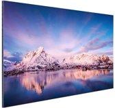 Bergen bij meer Aluminium 60x40 cm - Foto print op Aluminium (metaal wanddecoratie)