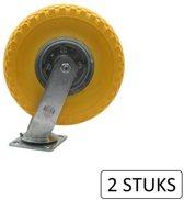 Zwenkwiel 3.00-4 + Anti Lek Band Maximale Belasting 130 Kg (2 Stuks)