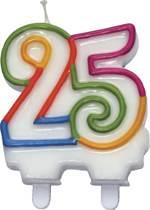 kaarsje cijfer 25