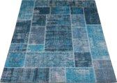 Vloerkleed Mijnen - 160 x 230 cm - Turquoise - Patchwork