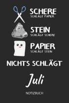 Nichts schl gt - Juli - Notizbuch