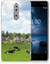 Nokia 8 Uniek TPU Hoesje Koeien