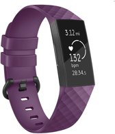 Eyzo Siliconen bandje - Fitbit Charge 3 - Paars - Small