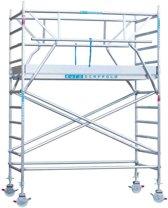 Rolsteiger met dubbele Voorloopleuning 135x250x4,2 meter werkhoogte