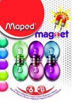 Magneten rond 13 mm - assorti kleuren doorschijnend x  6