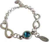 Infinity armband kristal - armband met Swarovski elements en infinity teken - cadeau vrouw - verjaardagscadeau