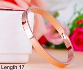 bangle | Luxe armband rosé kleurig |17 cm