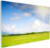 FotoCadeau.nl - De weide in de zomer Glas 180x120 cm - Foto print op Glas (Plexiglas wanddecoratie)