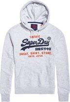 Superdry Shirt Shop Duo Hood  Sporttrui casual - Maat L  - Mannen - grijs/rood