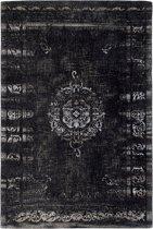 Nordal - GRAND woven rug, dark grey/black