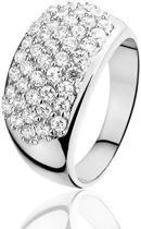 Montebello, zilveren ring, Fancy, maat 17,6