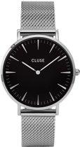 CLUSE CL18106 LA Bohème Mesh - Horloge - Staal - Ø 38 mm