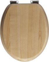 Allibert wc-bril AMAZONE - Massief hout - soft close - verchroomde zamak scharnieren - Smoked acacia