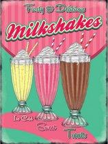Grote muurplaat Milkshakes 30x40cm