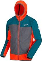 Regatta Softshell Jack Carpo Ii Hybrid Heren Oranje/blauw/grijs Maat L
