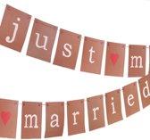 Neviti Just My Type - 'Just Married' huwelijk slinger - kraft - 3 meter