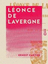 Omslag van 'Léonce de Lavergne'