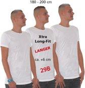 Extra lang t-shirt wit 3XL