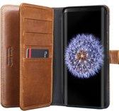 Pierre Cardin boekmodel voor Galaxy S9 Plus Bruin