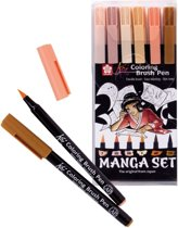 Koi Coloring Brush Pen set 6 Manga brushpen penseelpen penseelstift