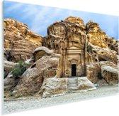 Tempel in Petra Jordanië Plexiglas 90x60 cm - Foto print op Glas (Plexiglas wanddecoratie)