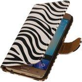 Samsung Galaxy J3 J300F Wit   Zebra bookstyle / book case/ wallet case Hoes    WN™