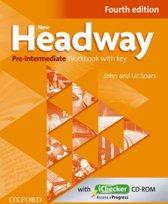 New Headway - Pre-intermediate 4th edition workbook with key + ichecker cd-rom