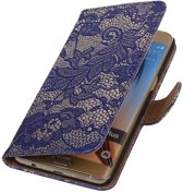 Lace Bookstyle Hoesje voor Samsung Galaxy S6 edge Plus Goud