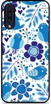 Galaxy A30s Hardcase hoesje Blue Bird and Flowers