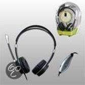 Point of View headset met microfoon, VOIP, USB, hoofdtelefoon volumeregeling, microfoon. mute, 2.5m. snoer, ergonomisch ontwerp.