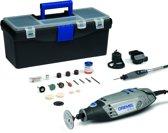 Dremel 3000 Multitool Roterend 130 Watt Inclusief 55 accessoires 3 hulpstukken en lichtgewicht Toolbox