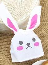 Bunny traktatie zakjes (roze)