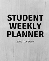 Student Weekly Planner 2017 To 2018