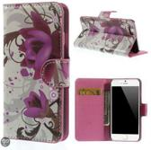 Lotus print Wallet case hoesje iPhone 6 4,7
