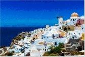 Canvas Schilderij Landschap - Santorini Griekenland