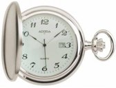 Mooi zilverkleurige zakhorloge met datum-Adora1-112245 TU9012