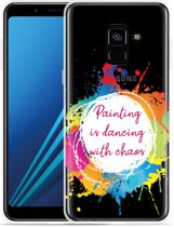 Samsung Galaxy A8 Plus 2018 Hoesje Painting