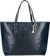 by LouLou 73BAG Lux Croc Schoudertas - Dark Blue