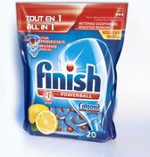 Finish Powerball All-in-1 Tabs Lemon - 20 stuks - Vaatwastabletten