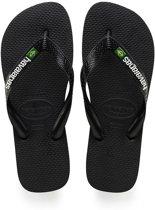 Havaianas Brasil Logo Slippers Unisex - Black 41-42