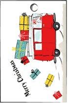 cadeaukaartje kerstman - cadeau - kerst - kerstcadeau - set van 15 minikaartjes