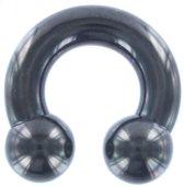 Circular Barbell Zwart 6 MM ©LMPiercings