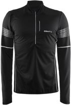 Craft Brilliant 2.0 Therm Wind Top M 1904315 - Sporttop - Black - Heren - Maat L