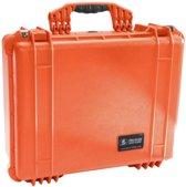 Peli Case 1550 Oranje  - Met plukschuim