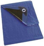 Waterdicht dekzeil extra sterk blauw/zwart - 2 x 3 meter - afdekzeil / marktzeil