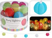 Party Lighting - LED Lampionnen - 20 stuks - 10,75 m lang - Gekleurd