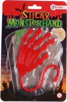 Toi-toys Kleverige Monster Plakhand 10 Cm Rood