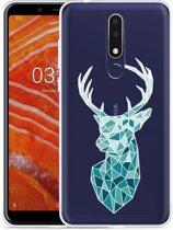 Nokia 3.1 Plus Hoesje Art Deco Deer