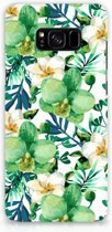 Samsung Galaxy S8 Plus Hardcase Hoesje Orchidee Groen